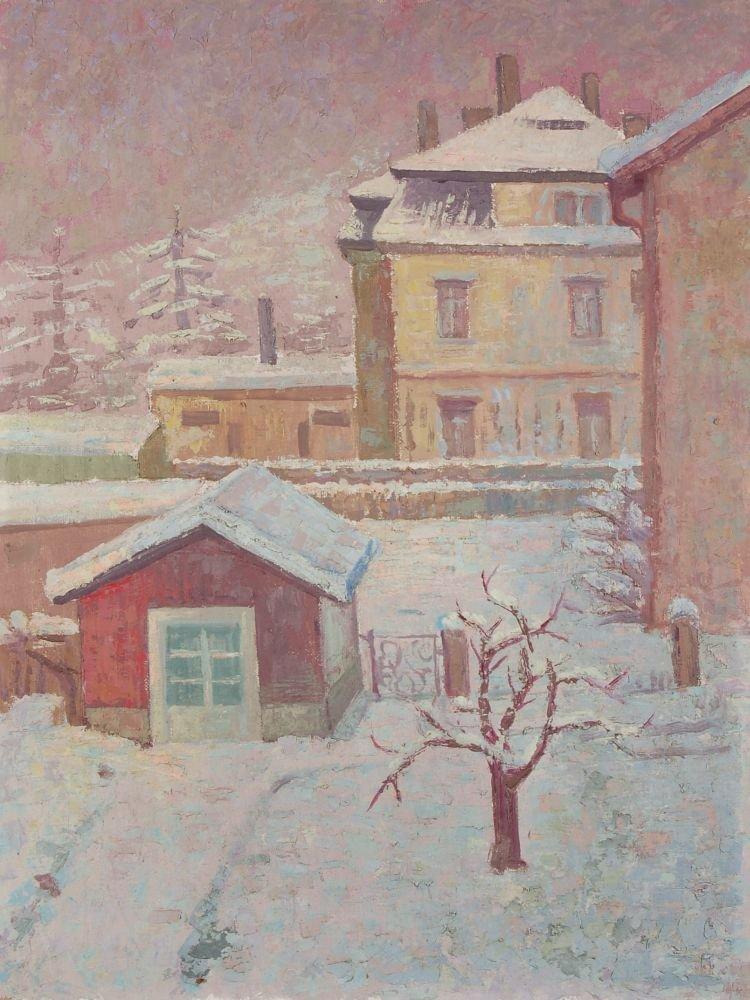 """106: Max Möbius """"Winterlandschaft"""". 1973."""