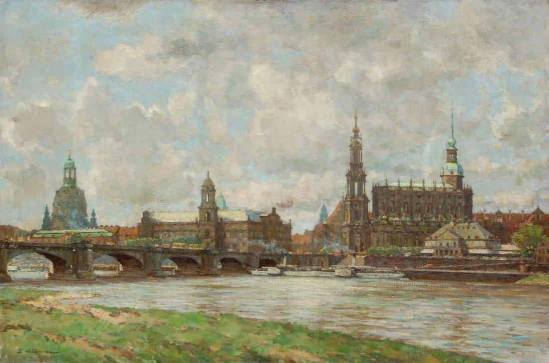 108: Ludwig Muhrmann, Blick auf die Dresdner Altstadt.