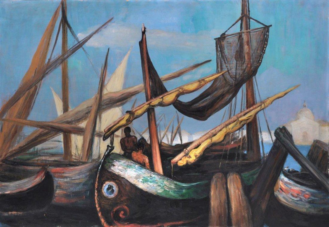 115: Ottilie Reyländer-Böhme (zugeschr.), Fischerboote