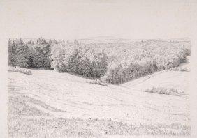 Carl Bantzer, Hessische Landschaft. 1918.