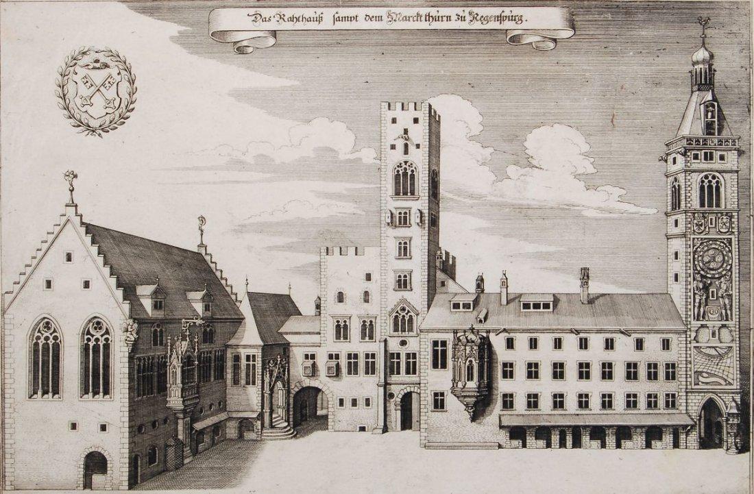"""179: Matthäus Merian (zugeschr.) """"Das Rathaus samt dem"""
