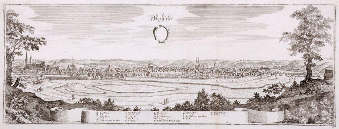 """180: Matthäus II Merian """"Rochlitz"""". Wohl um 1660."""