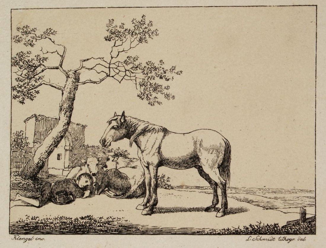 """181: Louis Schmidt """"Liegender Hirt mit Herde und nach l"""