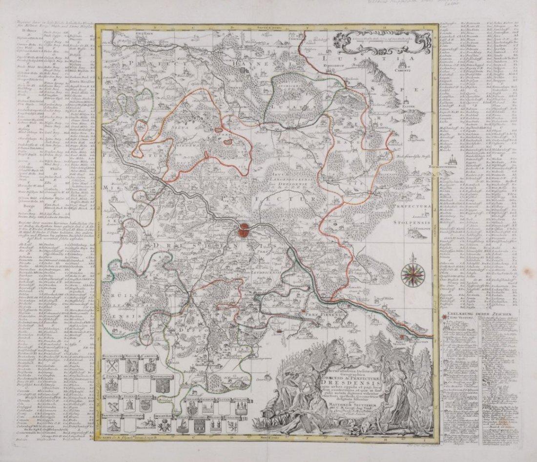 """185: Matthäus Seutter """"Accuratissima Delineatio Geograp"""