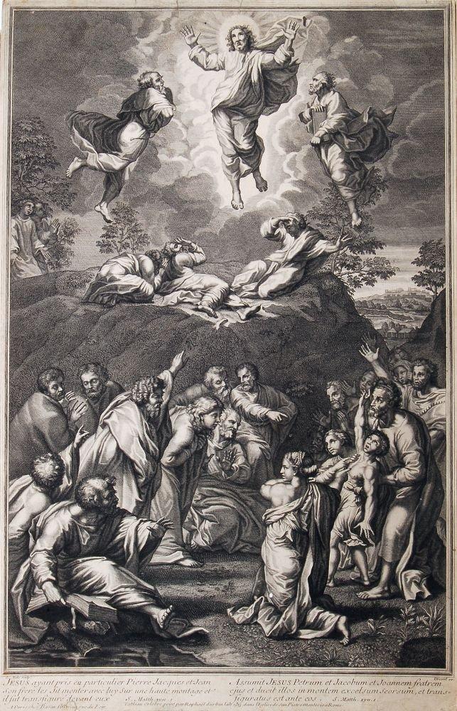 """187: Simon de la Vallé """"Transfiguration"""". Um 1700."""