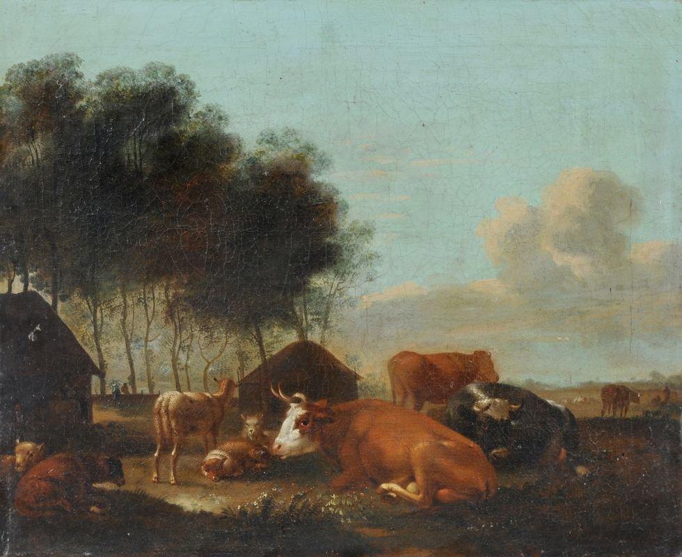 3: Johann Friedrich Weitsch (Umkreis), Rastende Kühe un