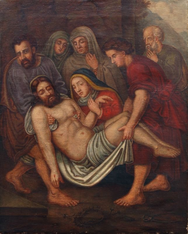 4: Unbekannter Künstler, Grablegung Christi. Wohl 2nd h