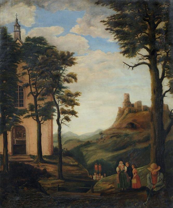 11: Julius Fiebiger (zugeschr.), Prozessionszug mit Bur