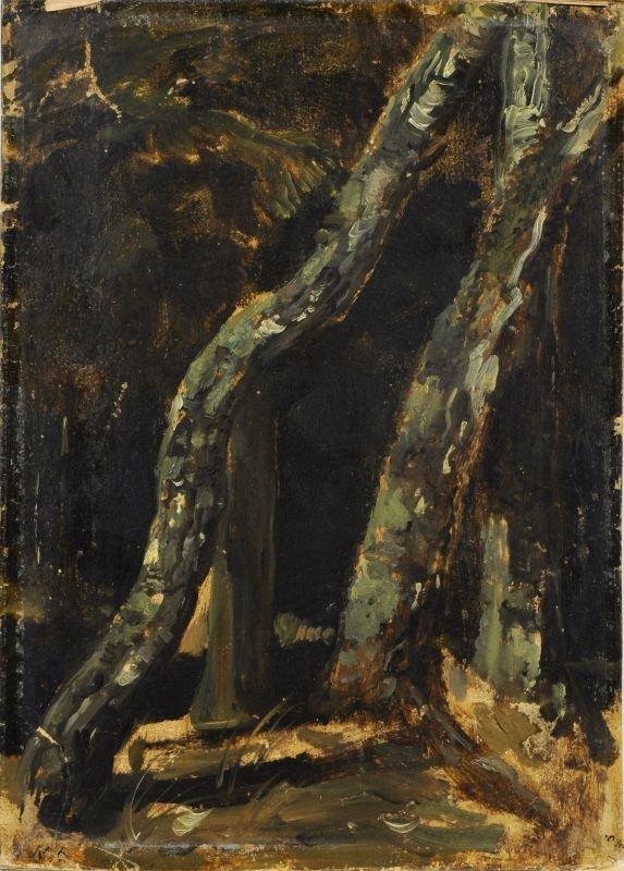 12: Christian Friedrich Gille, Kleine Baumstudie. Um 18