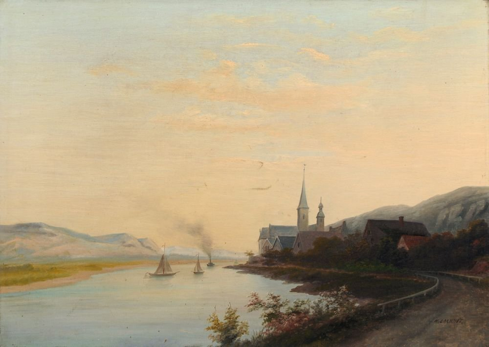 19: H. Lachnit, Sommerliche Flußlandschaft mit kleinem