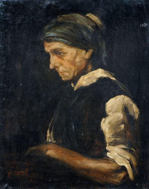 21: Mihály von Munkácsy, Bildnis einer Bäuerin im Profi