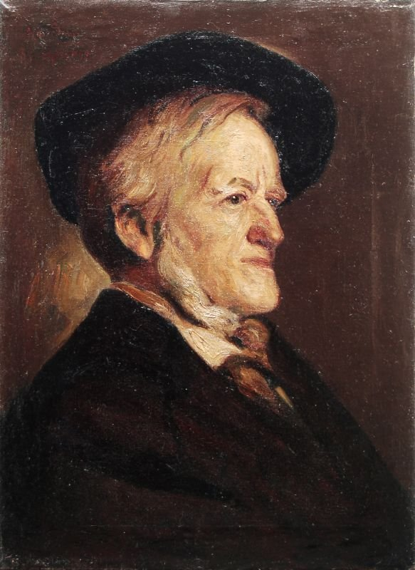 23: Hans Sam, Portrait Richard Wagner. 1899.