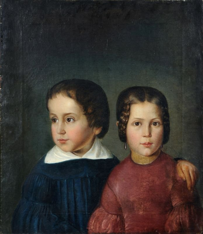 25: Unbekannter Künstler, Bildnis eines Geschwisterpaar