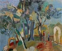37: Kurt Bunge, Parklandschaft mit Figuren. 1957.