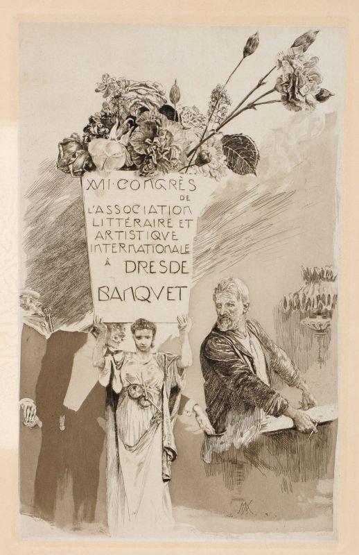 "165: Max Klinger ""Menu zum XVII. Kongress der Associati"