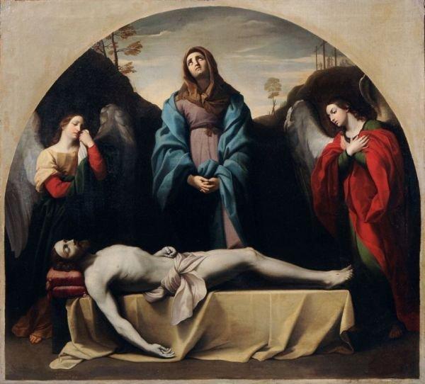 1: Gustav Friedrich Baumgarten, Beweinung Christi. 1832