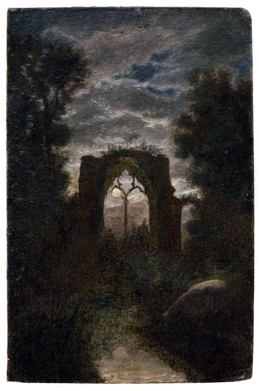 11: Carl Gustav Carus, Die Ruine von Netley Abbey im Mo