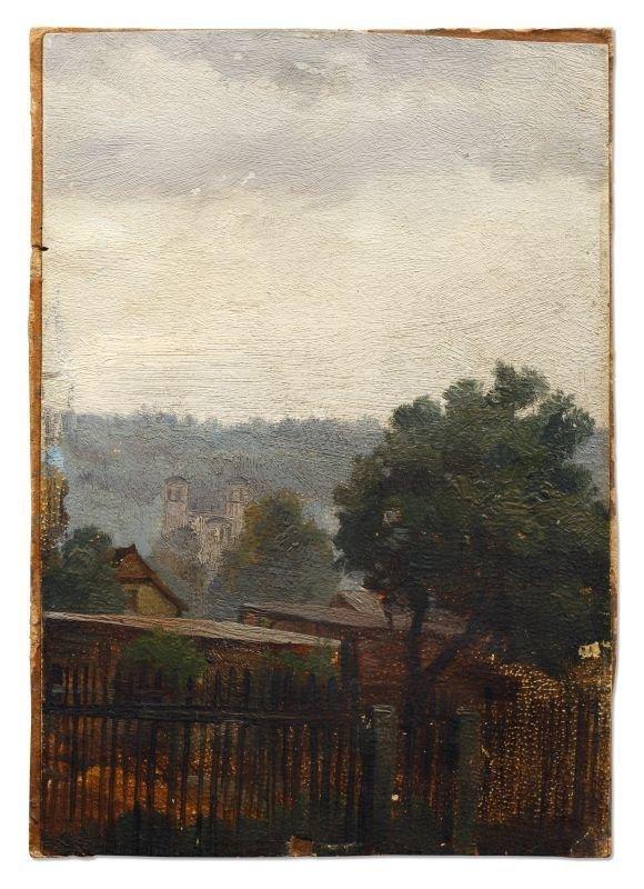 12: Carl Gustav Carus, Blick über Hosterwitzer Gärten a