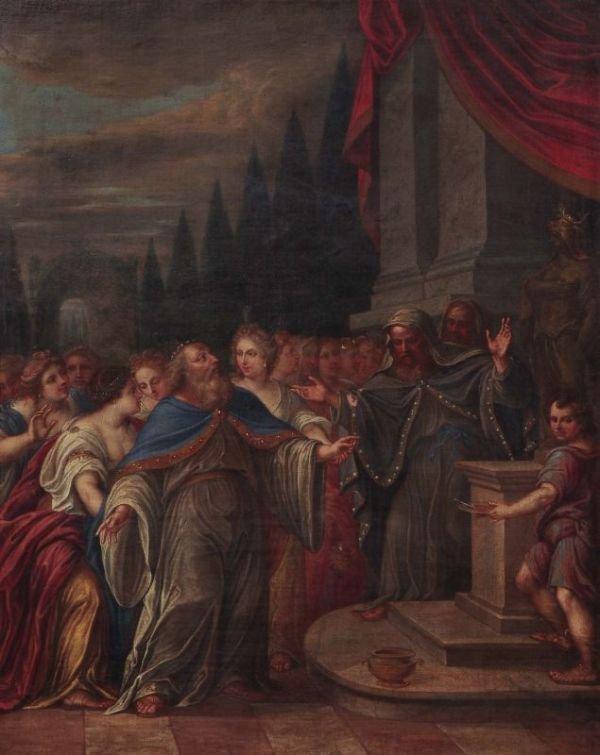 15: Unbekannter Künstler, Historiendarstellung. 1707.