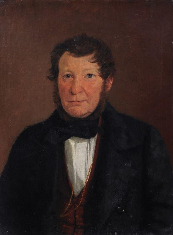 17: Moritz Unna, Bildnis eines Herren in Felljacke. 184