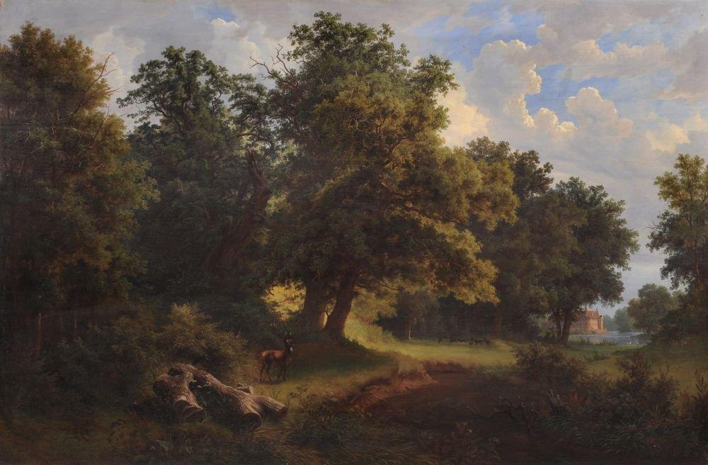 Gustav Friedrich Papperitz, Spätsommerliche Parklandsch