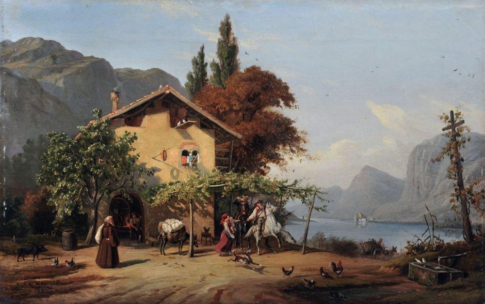 Johann Friedrich Wilhelm Wegener, Italienisches Gasthau