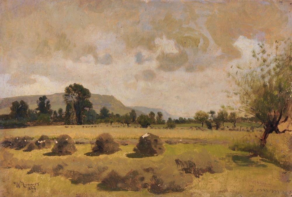 """Wilhelm Carl August Zimmer """"Im Saaletal"""". 1877."""