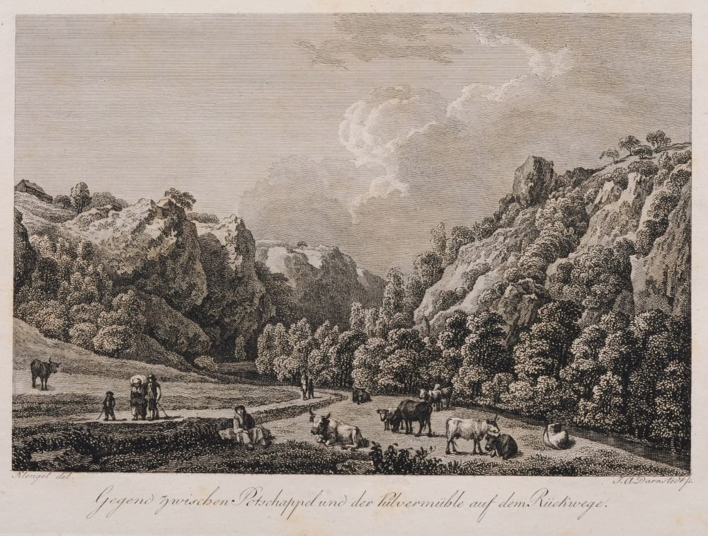 Johann Adolph Darnstedt, Acht Ansichten aus dem Plauens - 4