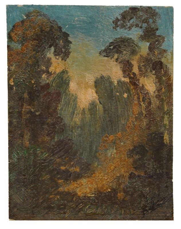 Carl Blechen, Abendliche Waldlandschaft. Um 1833- 1835.