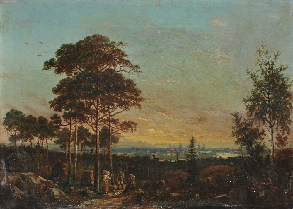 Johann Anton Castell (zugeschr.), Abendstimmung ueber D