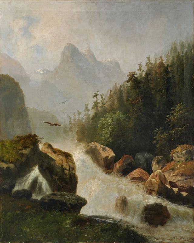 Heinrich Eduard Heyn, Wildwasser im Gebirge. 2nd half 1