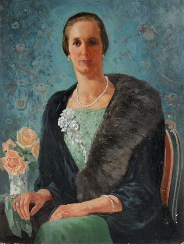 """Walter Richard Rehn """"Portrait Baronin von Arnim"""". 1935."""