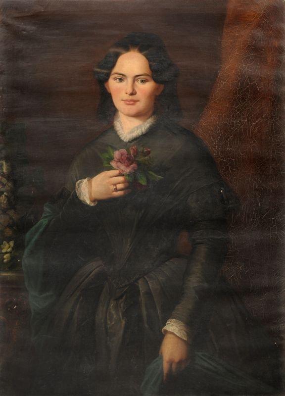 Emil Brehmer (zugeschr.), Bildnis der Ernestine Sommerb