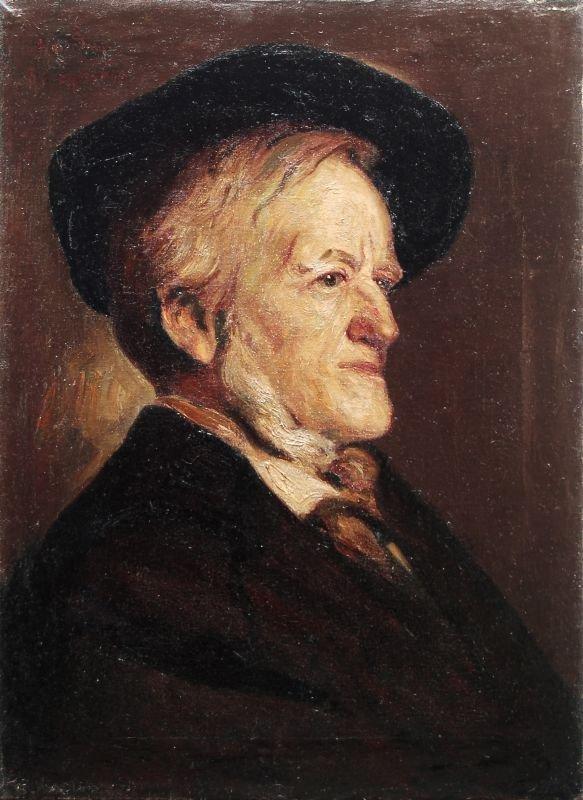 Hans Sam, Portrait Richard Wagner. 1899.