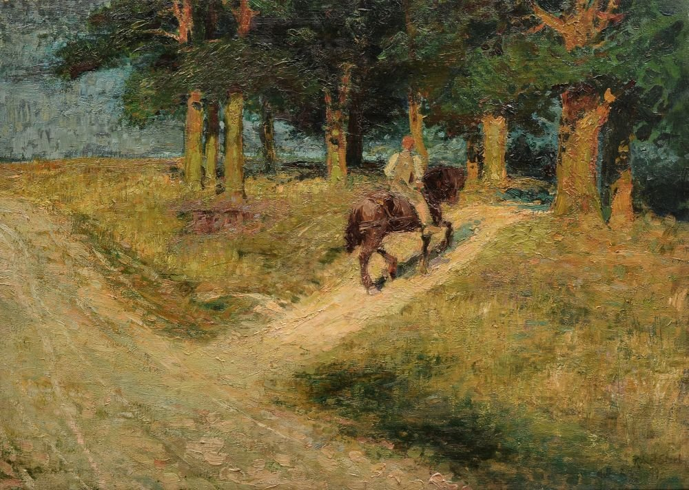 "Robert Sterl ""Reiter am Waldrand"". 1899."