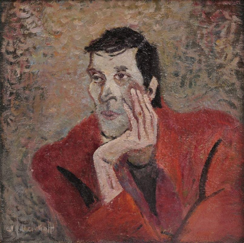 Maria Adler-Krafft, Herrenportraet mit aufgestuetzter H