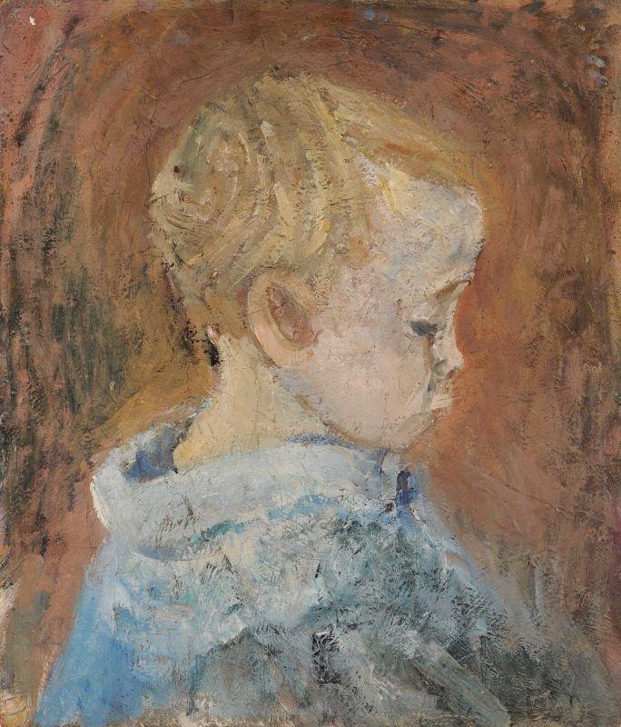 Maria Adler-Krafft (Zugeschr.), Kleinkind im Profil nac