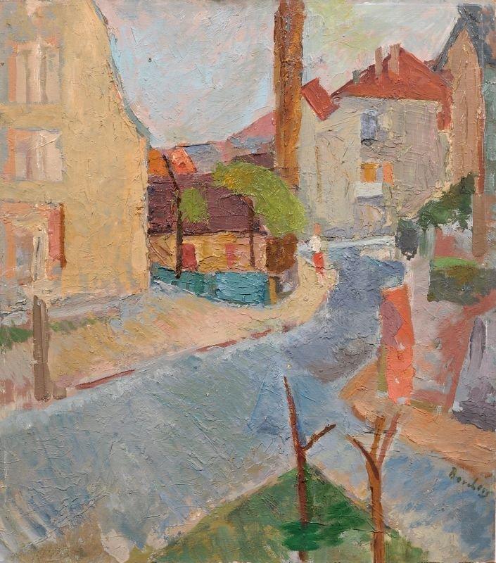 """Claudia Borchers """"Strasse in Alt-Coschuetz Dresden"""". 19"""