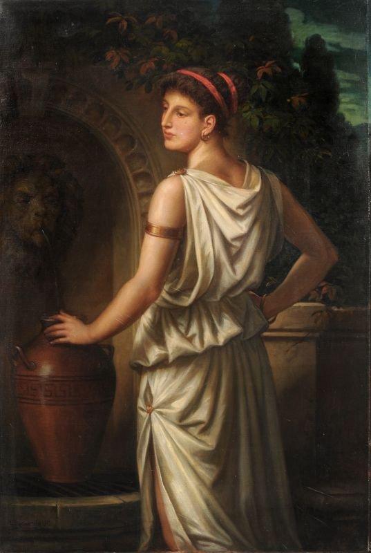 Gustav Ludwig Rudow, Bildnis einer jungen Dame im antik