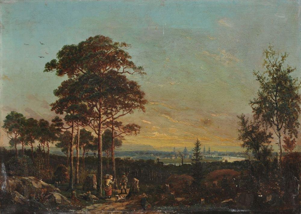 Johann Anton Castell (zugeschr.), Abendstimmung ueber