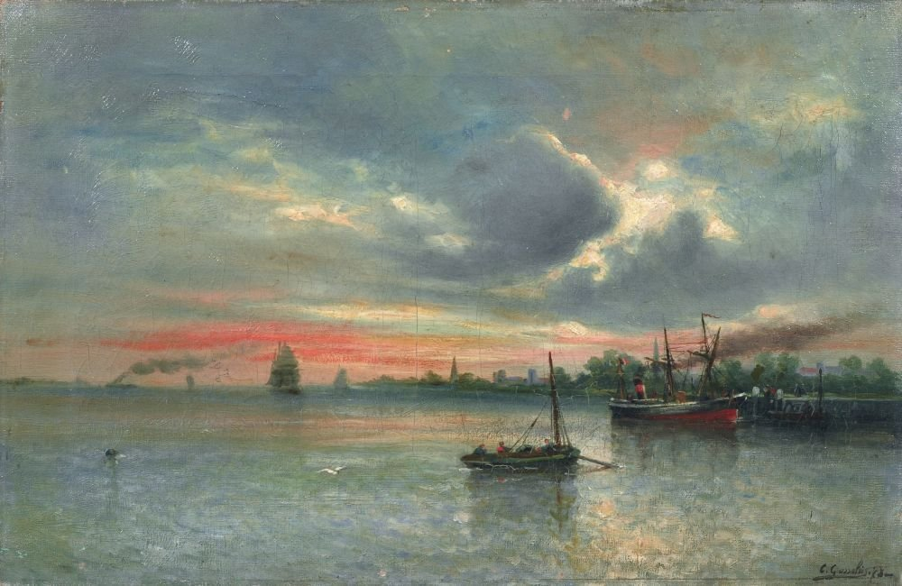 Charles Gosselin, Seestueck. 1878.