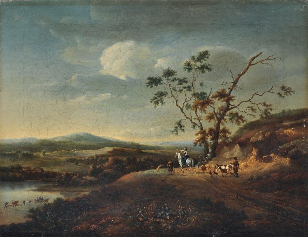 Ferdinand Kobell (attributed). Landscape with shephards