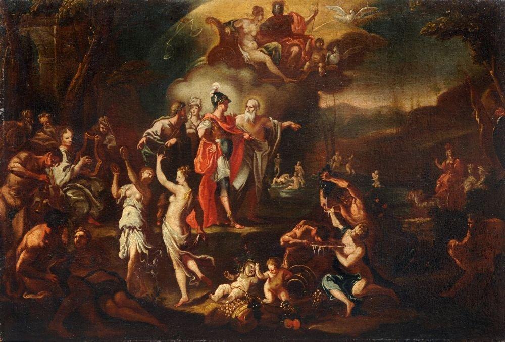 "Johann Heinrich Schoenfeld (attributed) ""Anchises shows"