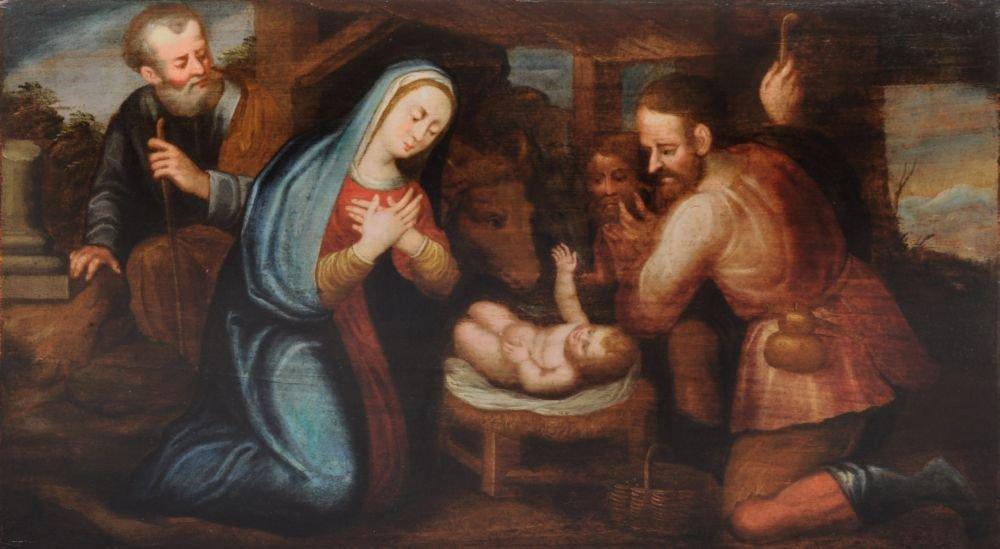 Unbekannter Kuenstler, Geburt Christi. Wohl 17./ 18th