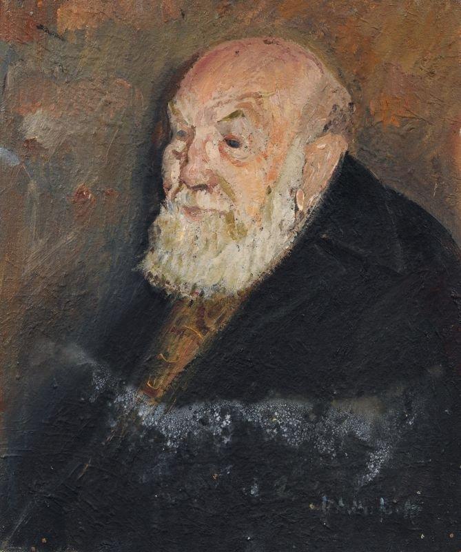 Maria Adler-Krafft, Bildnis eines alten Mannes. No