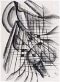 Thilo Maatsch, Abstrakte Komposition mit Gitter. Wohl
