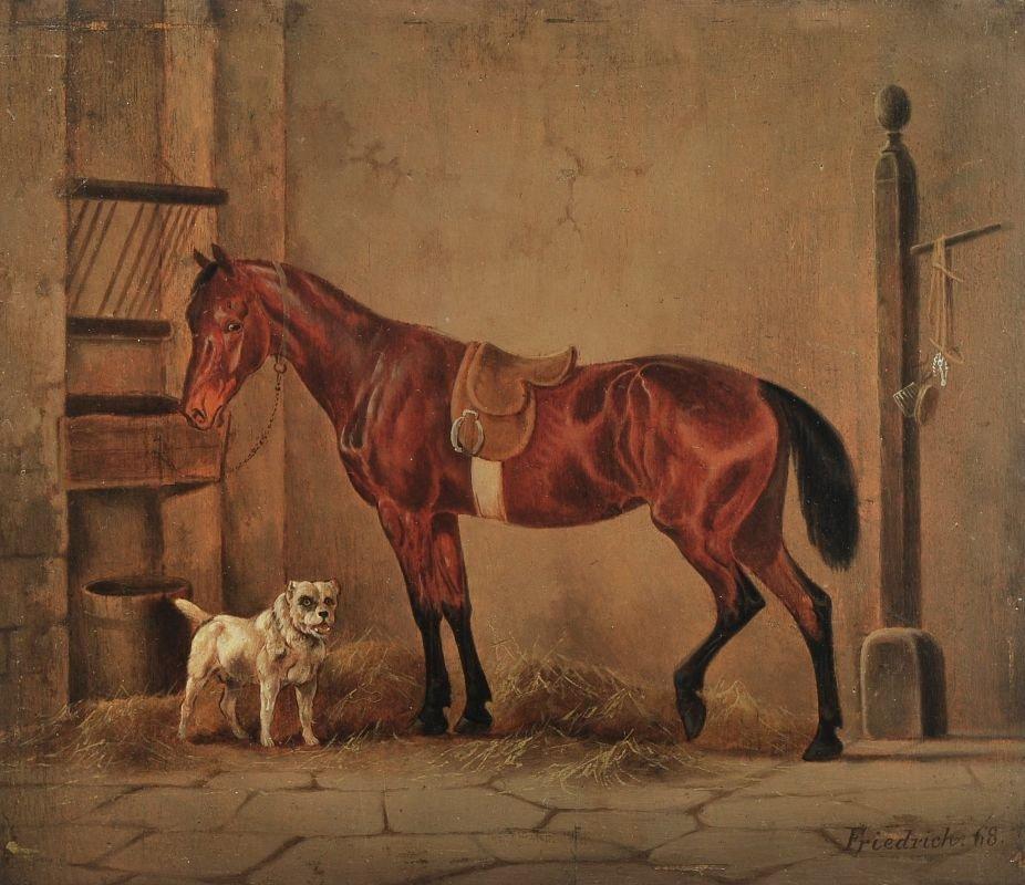 Gustav Adolf Friedrich, Bildnis eines Rennpferdes.