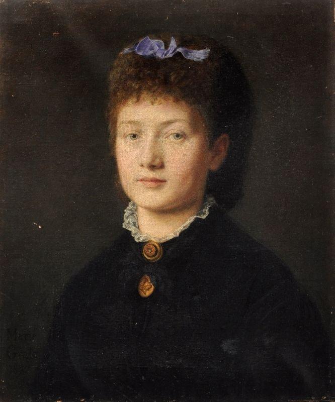 Marie Gratz, Portrait einer jungen Dame. 1872.