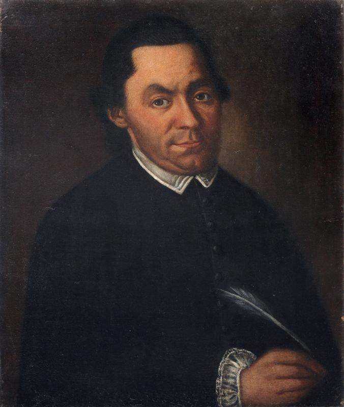 Unbekannter Kuenstler, Portrait eines Schreibers. Wohl
