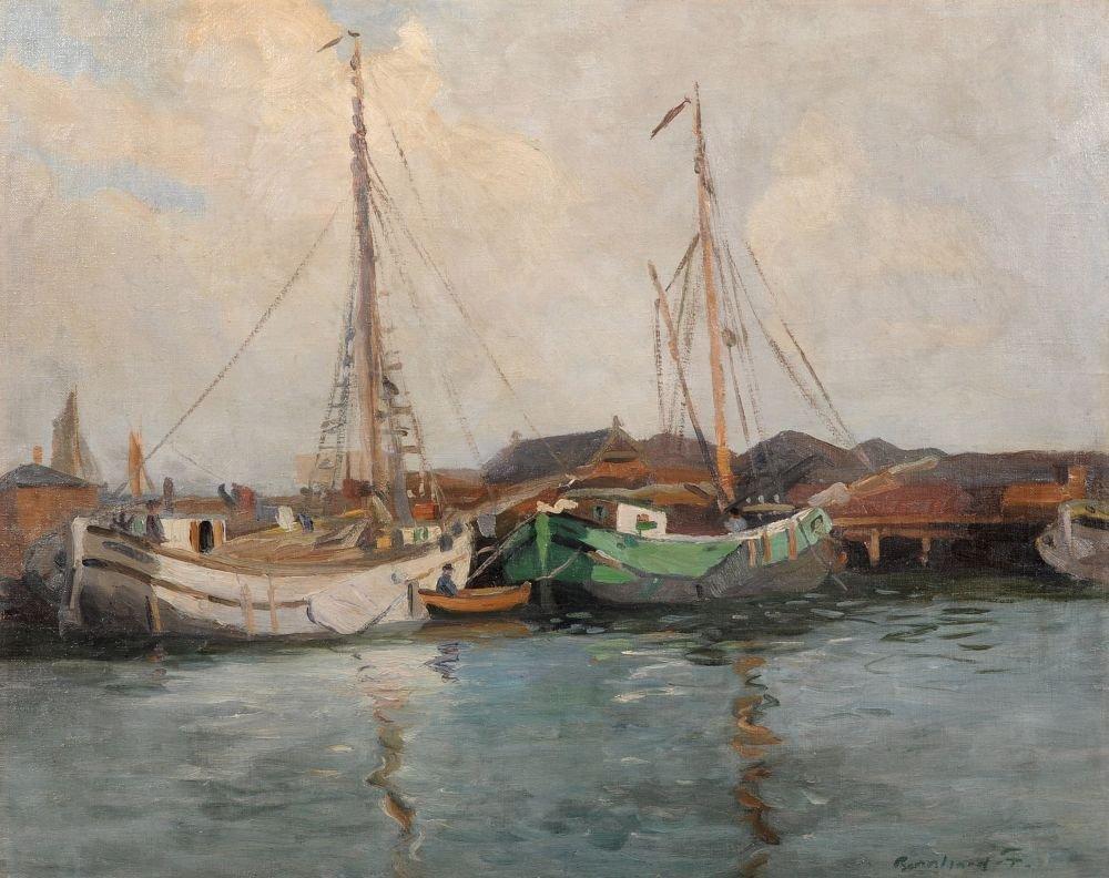 Fanny Bernhard, Kleiner Fischereihafen. No date.